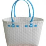 กระเป๋าเล็ก สีขาว หูสีฟ้า (ATS-F3)
