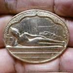 เหรียญพระนอน วัดโพธิ์ หลังภปร. ปี2530 พิธีใหญ่ NO.8