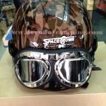 หมวกกันน็อคลายพรางแบบครึ่งใบ SPACE CROWN พร้อมแว่น