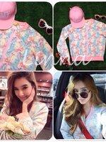 พร้อมส่ง HERAS.. Aurora Barbie Jacket.. งานLin na made in korea ผ้านาโนเนื้อหนานุ่ม ลายเป๊ะ แบบคุณเบเบ้ใส่คร้า