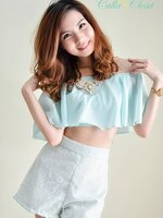 Bloomy Gal Top : Mint