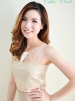 Sparkling Goldy Crop : Cream/Gold