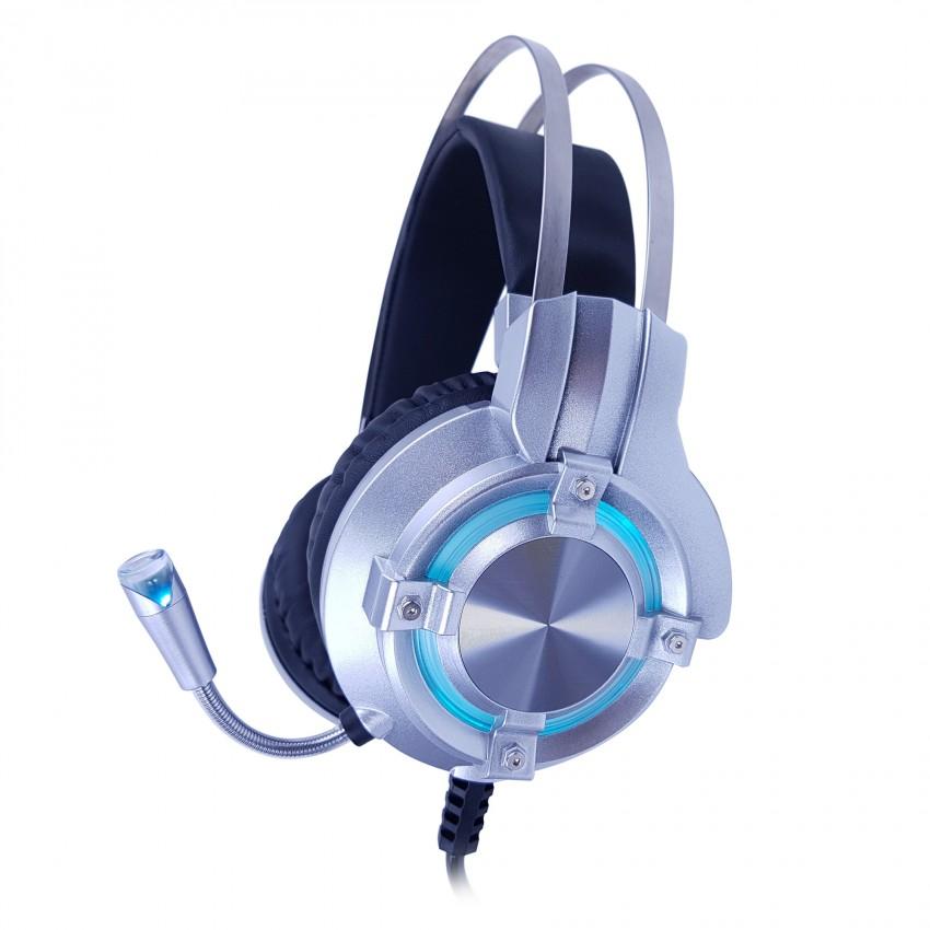 หูฟัง OKER X98 หูฟัง Stereo HeadSet มีไฟ LED - (สีเงิน)