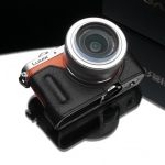 Gariz Leather Half-case for Lumix GM1: Black (HG)