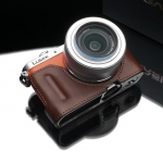 Gariz Leather Half-case for Lumix GM1: Brown (HG)