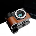 Gariz Leather Half-case for Sony A6500: Camel