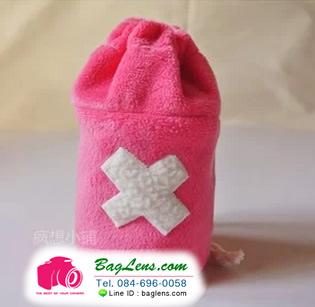 ถุงผ้าใส่เลนส์ Pink Reindeer