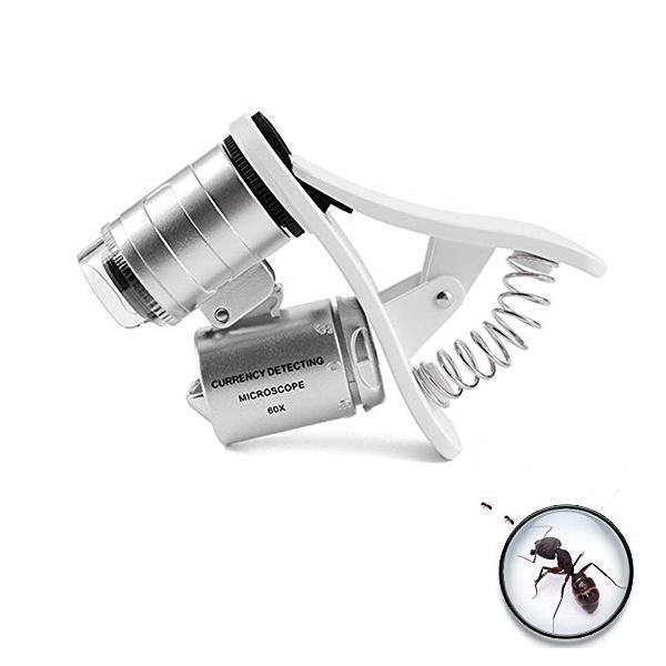กล้องจุลทรรศน์ กล้องส่องพระ ดูผ่านมือถือ หนีบโทรศัพท์60x