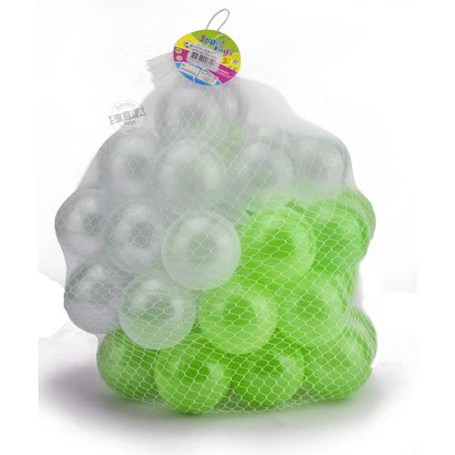 ลูกบอลขนาด 3 นิ้ว จำนวน 50 ลูก(สีขาว-เขียว)..ฟรีค่าจัดส่ง