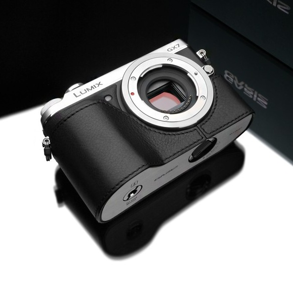 Gariz Leather Half-case for Lumix GX7: Black