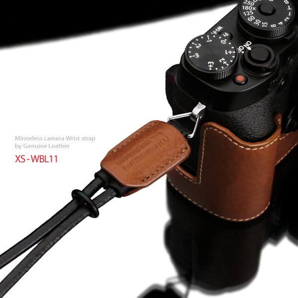 Gariz Leather Wrist Strap : XS-WBL1 (Orange)