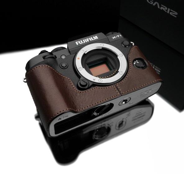 Gariz Leather Half-case for Fuji X-T1 : Brown