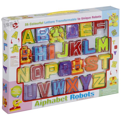 หุ่นยนต์ตัวอักษร A-Z แปลงร่าง Aiphabet Robots ฟรีค่าจัดส่ง