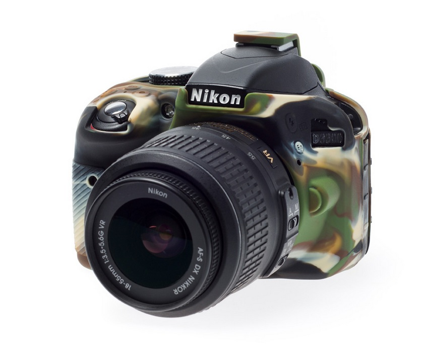 Nikon D3300 EasyCover Silicone Case -Camouflage