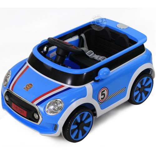 รถแบต LN-D03 มินิคูเปอร์ สีฟ้า ฟรีค่าจัดส่ง