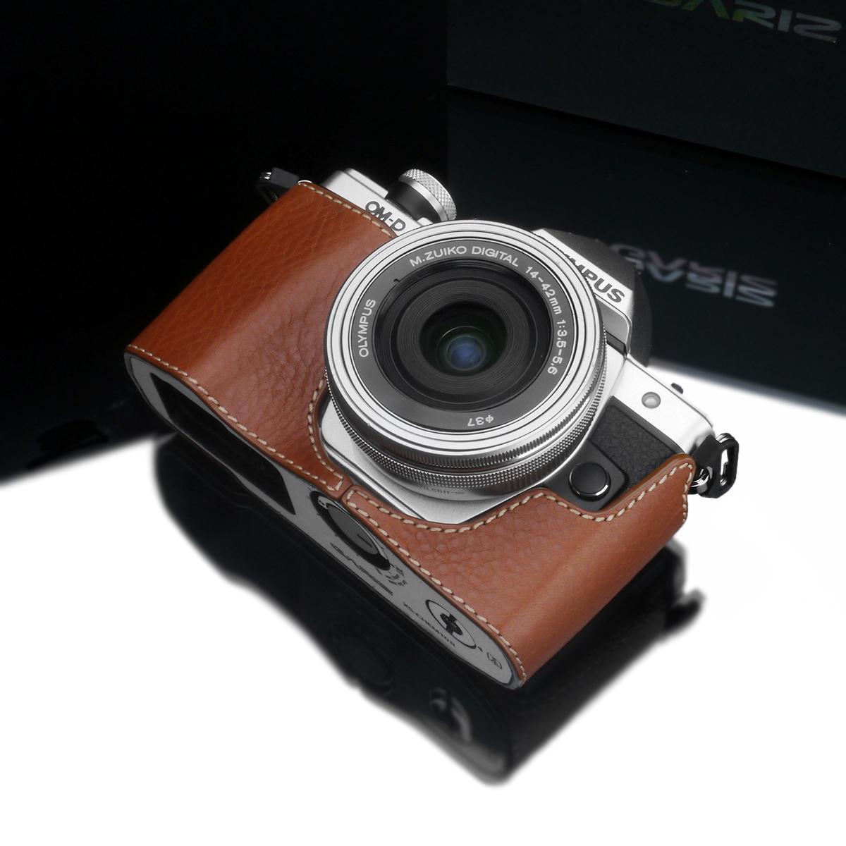 Gariz Leather Half-case for Olympus E-M10 II : Camel