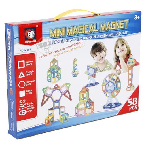 ชุดตัวต่อแม่เหล็กเสริมทักษะ 58 ชิ้น (Mini Magical Magnet 58 Pcs.) ฟรีค่าจัดส่ง