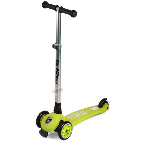 สกู๊ตเตอร์ สีเหลืองแกมเขียว Scooter ฟรีค่าจัดส่ง