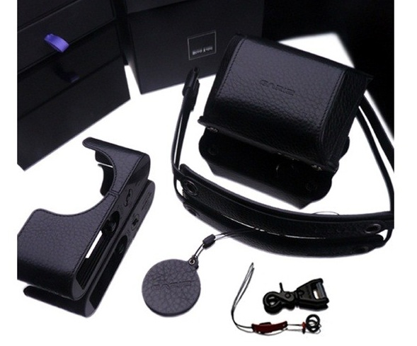 Gariz Leather Half-case for Leica X1, X2 : Black (Set)
