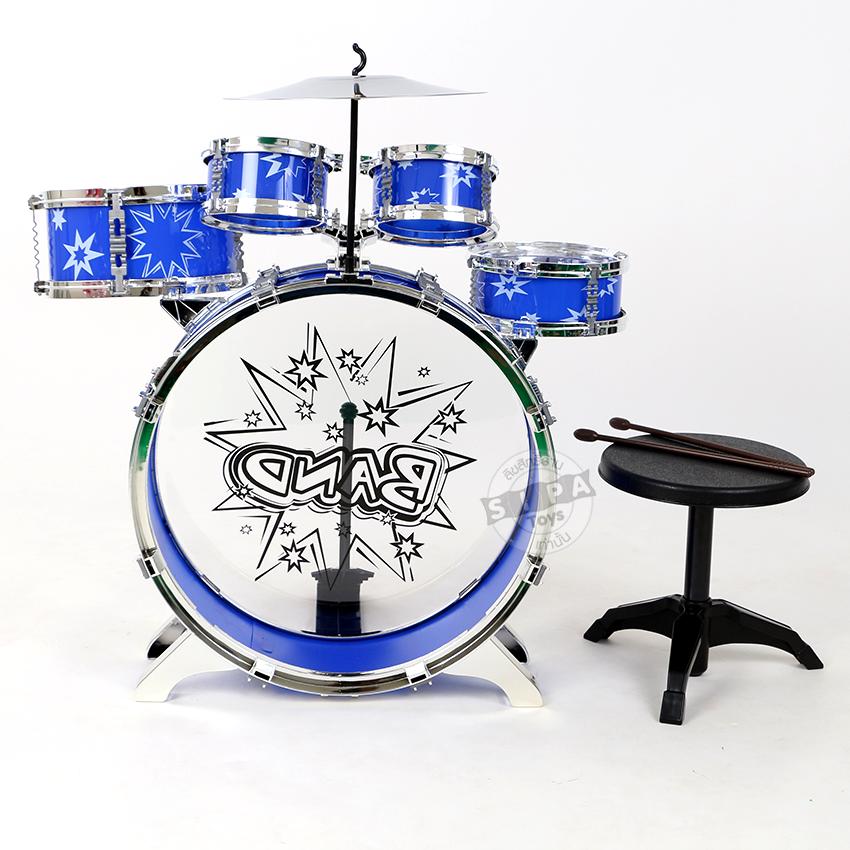 ชุดกลอง 5 ชิ้น Big Band สีน้ำเงิน...ฟรีค่าจัดส่ง