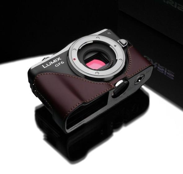 Gariz Leather Half-case for Lumix GF6: Brown