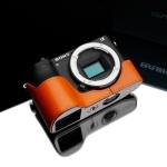Gariz Leather Half-case for Sony A6500: Orange