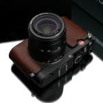 Gariz Leather Half-case for Leica New X type 113 : Brown