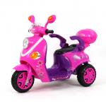รถมอเตอร์ไซค์ (รถแบต) สีชมพู...ฟรีค่าจัดส่ง