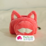 เคสกล้องแบบถุงผ้า Pink Cat