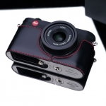 Gariz Leather Half-case for Leica X1, X2 : Black/red