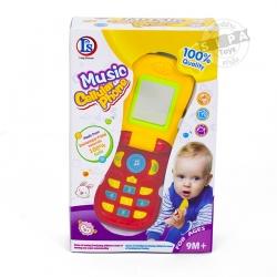 โทรศัพท์มือถือฝาเปิด สีแดง(Music Phone) ...ฟรีค่าจัดส่ง