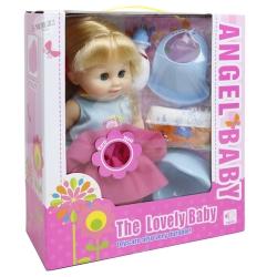 ตุ๊กตาเด็กอ่อน + ขวดนมและอุปกรณ์(กินนม ฉี่ เปลี่ยนผ้าอ้อมได้)