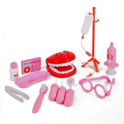 ชุดเครื่องมือหมอฟัน สีชมพู Dental Clinic ฟรีค่าจัดส่ง