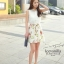 Ice Vanilla Romantic Retro Flower Sleeveless Dress thumbnail 1