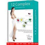 12 Complex ทเวล คอมเพล็กซ์ อาหารเสริมลดน้ำหนักของจุ๋ย วรัทยา แบบ 1 กล่อง