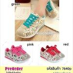 Preorder 7640p รองเท้าผ้าใบผู้หญิง 34-40